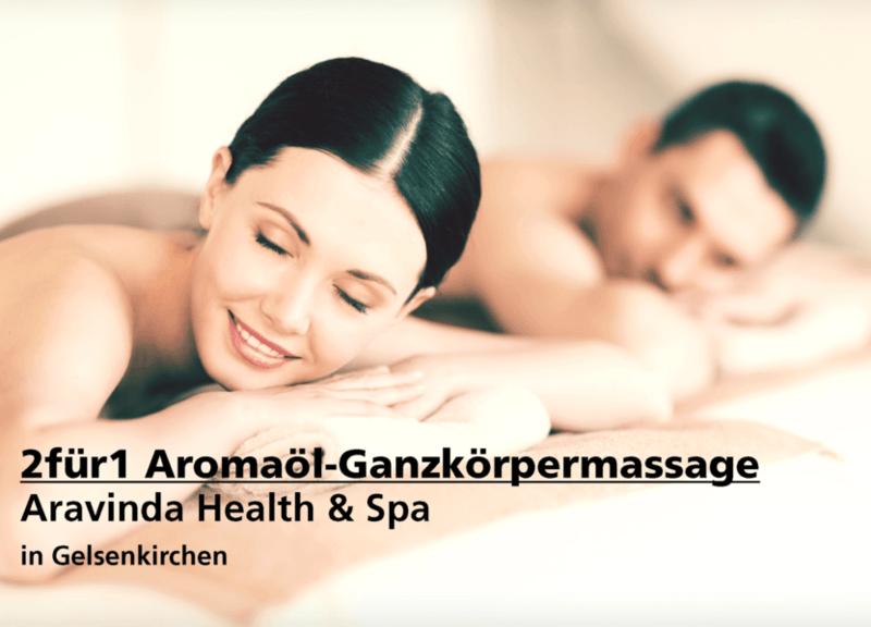 2für1 Aromaöl-Ganzkörpermassage - Aravinda Health & Spa - Nach Ausdruck maximal 30 Tage gültig!!!