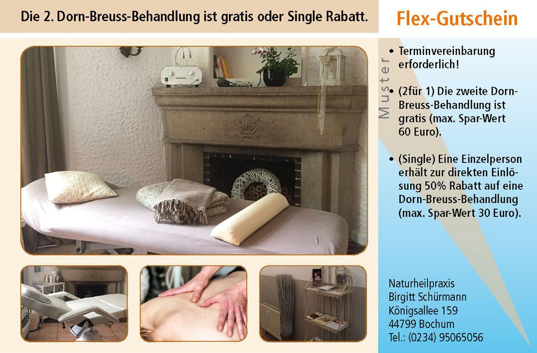 Gutschein Dorn-Breuss-Behandlung in Bochum Ruhrgebiet