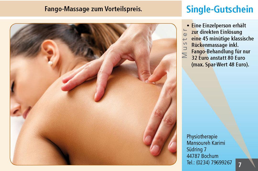 Fango-Massage Gutschein in Bochum Ruhrgebiet