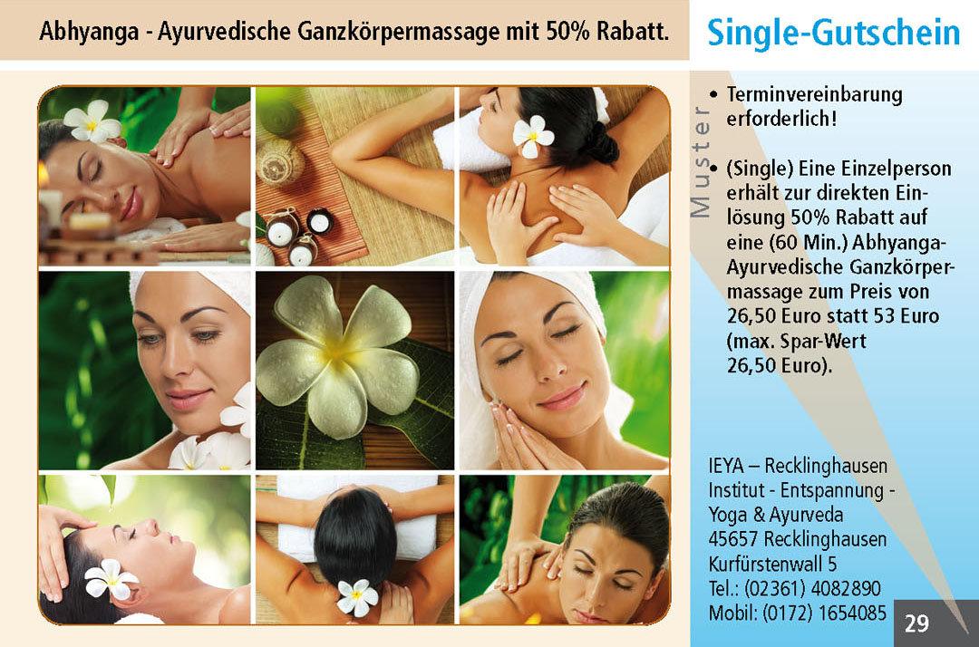 Massage Gutscheine im Ruhrgebiet