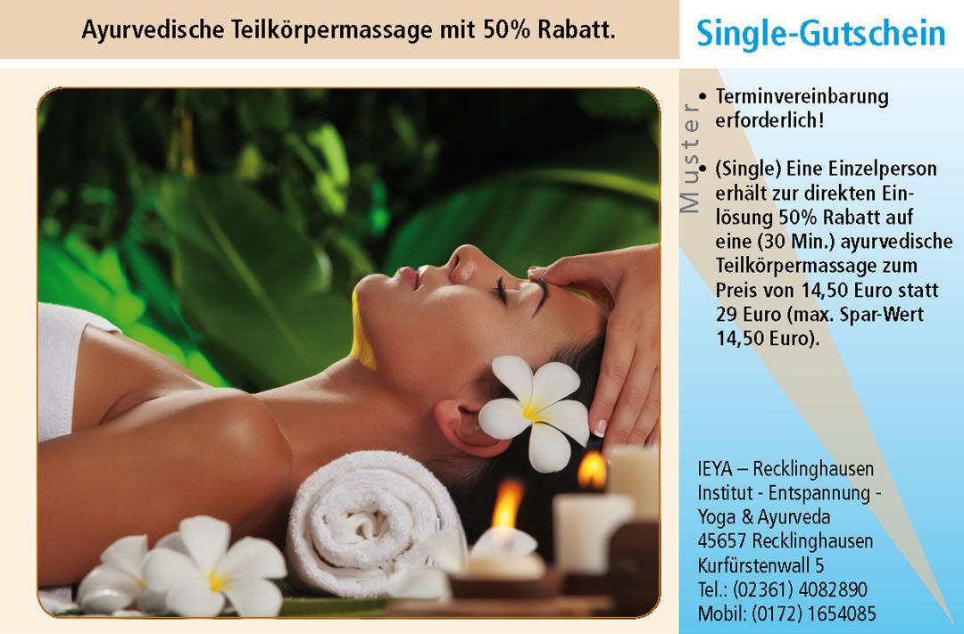 Massage Gutschein Ruhrgebiet