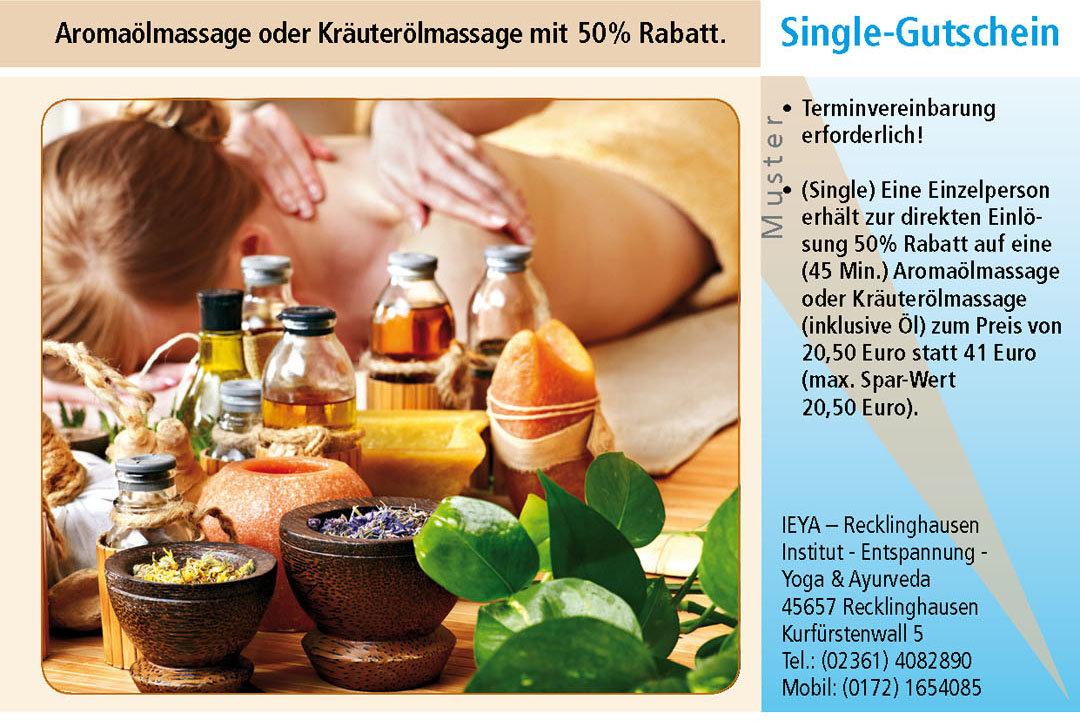 Massage Gutschein Ruhrgebiet Recklinghausen