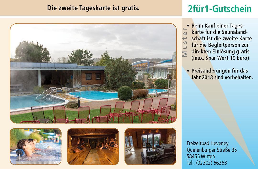 Sauna Gutschein Ruhrgebiet Freizeitbad Heveney