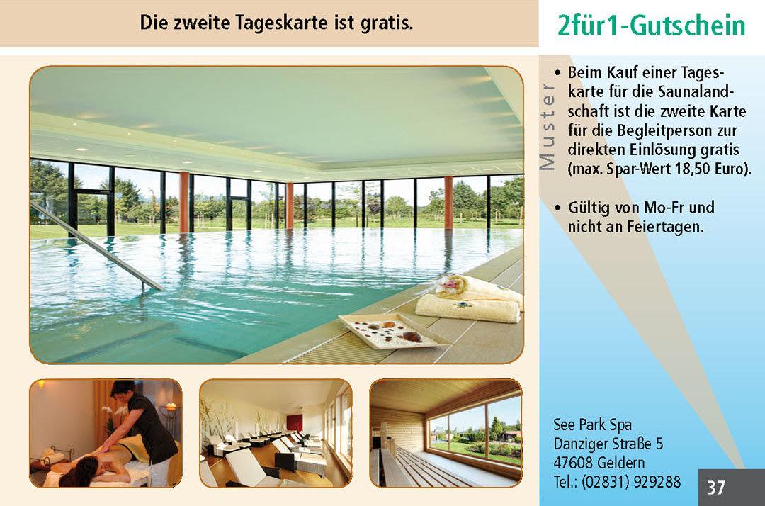 Sauna Gutscheine Ruhrgebiet See Park Spa
