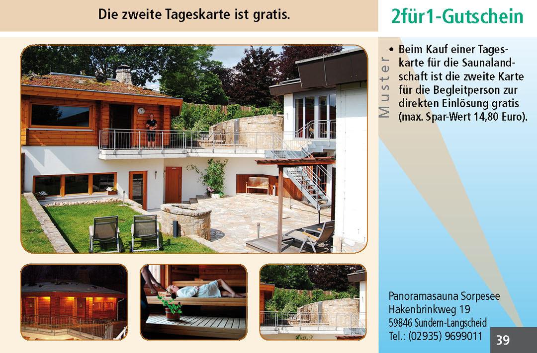 Sauna Gutscheine Ruhrgebiet Panoramasauna Sorpesee