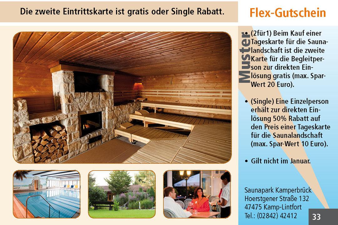 Sauna Gutschein Ruhrgebiet Saunapark Kamperbrück