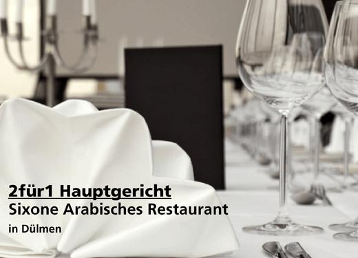 2für1 Hauptgericht -  Sixone Arabisches Restaurant - Nach Ausdruck maximal 30 Tage gültig!!!