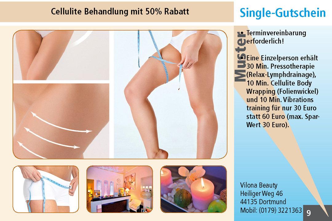 2für1 Gutschein Ruhrgebiet Cellulite Behandlung