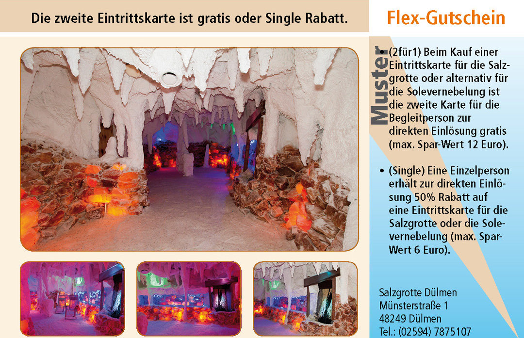 2 für 1 Gutschein-Ruhrgebiet-Salzgrotte-Duelmen