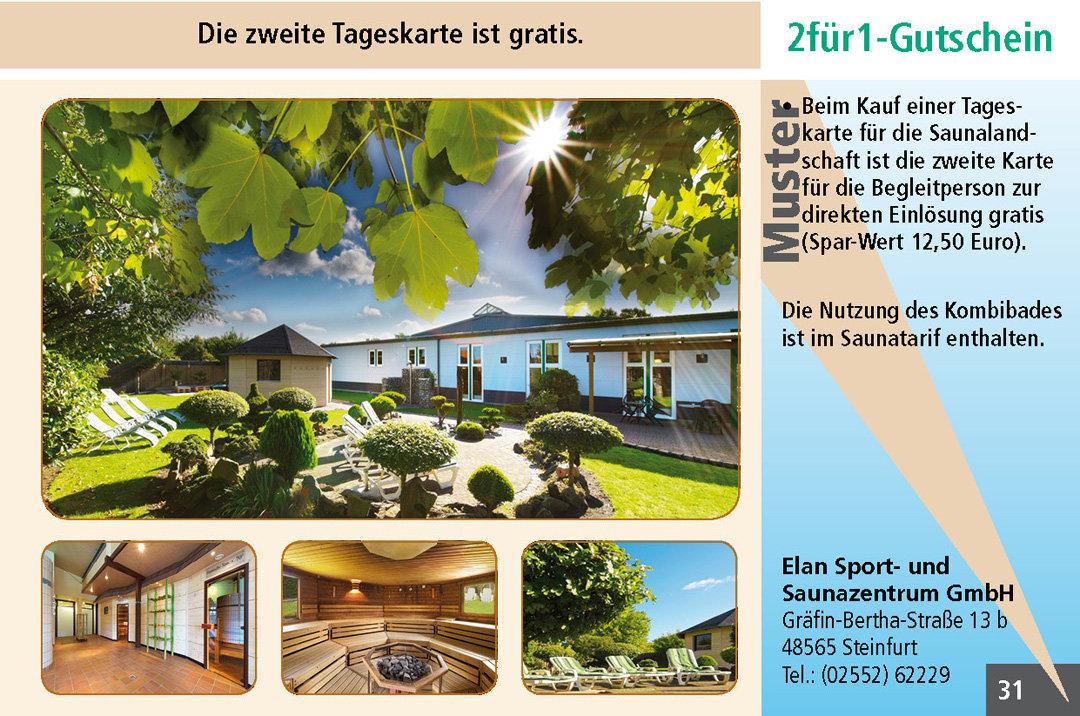 2 für1 Gutschein-Ruhrgebiet-Sauna-Elan-Sport