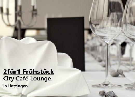 2für1 Gutschein Frühstück - City Café Lounge in Hattingen