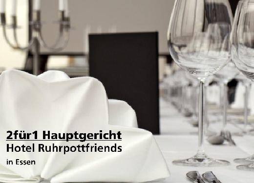 2 für 1 Gutschein Hauptgericht - Hotel Ruhrpottfriends in Essen