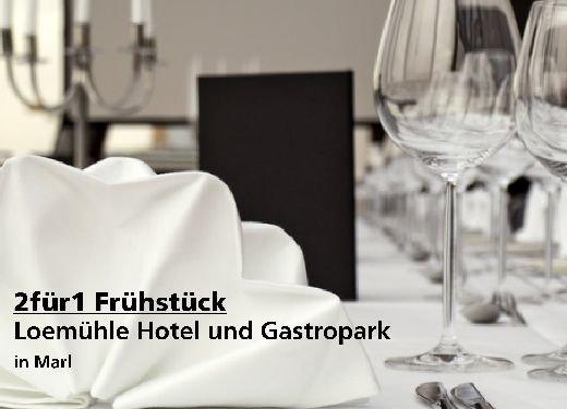 2für1 Gutschein Frühstück - Loemühle Hotel und Gastropark in Marl