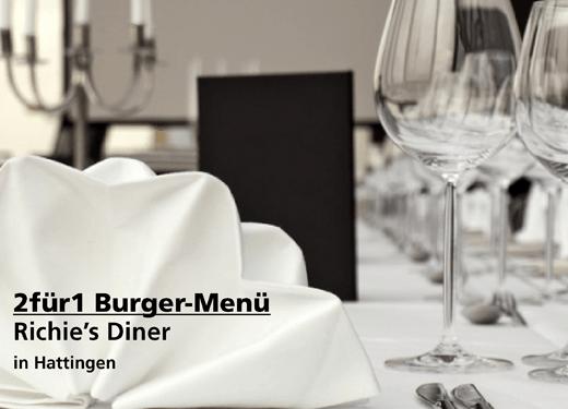 2für1 Gutschein Burger-Menü - Richie's Diner in Hattingen