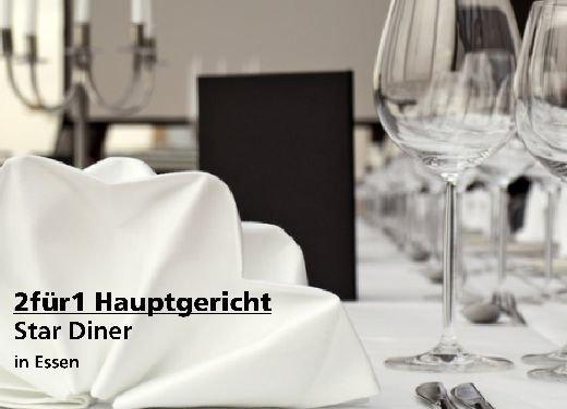 2für1 Gutschein Hauptgericht - STAR DINER in Essen